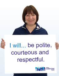 I will...be polite, courteous and respectful.
