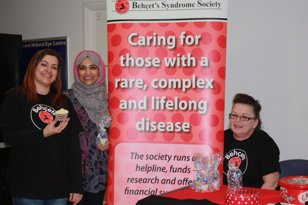 Bechets Syndrome Society volunteers at the Birmingham Midland Eye Centre
