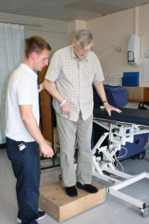 Senior Occupational Therapist Karl Welborn and Donald Bayley