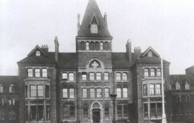 old frontage of city hospital