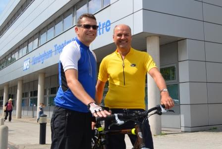 Warren Chapman and Dr Lewis , Charity Cyclists