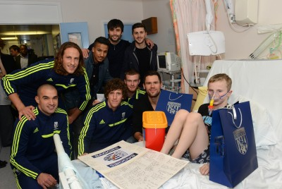 West Bromwich Albion Players Christmas Hospital Visit  - Sandwell Hospital