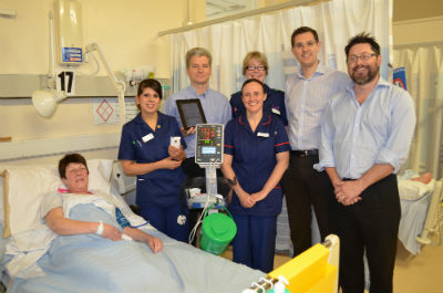 The new VitalPAC system is used on a ward.