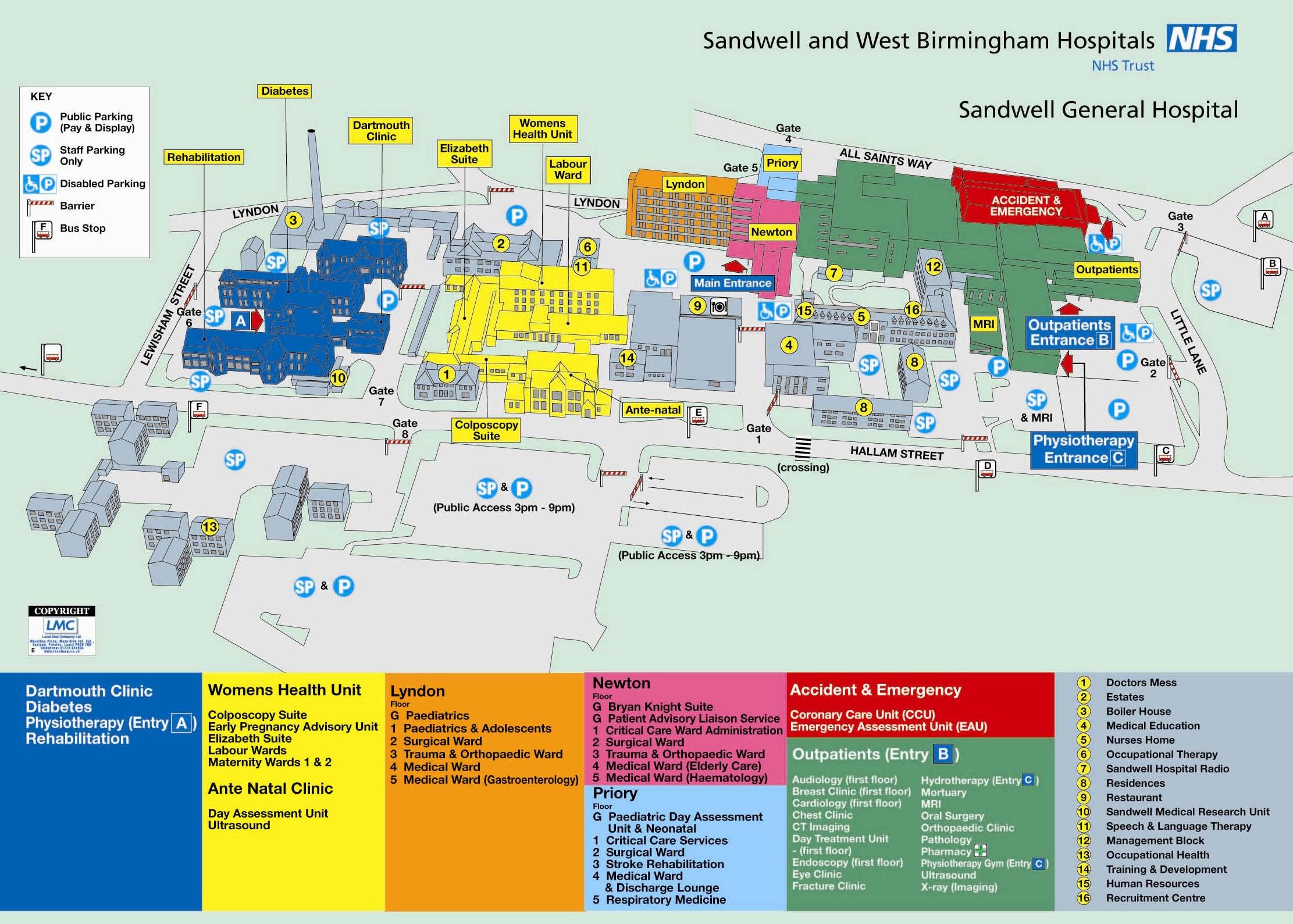 Lewisham Hospital Map Sandwell General Hospital   Sandwell and West Birmingham  Lewisham Hospital Map