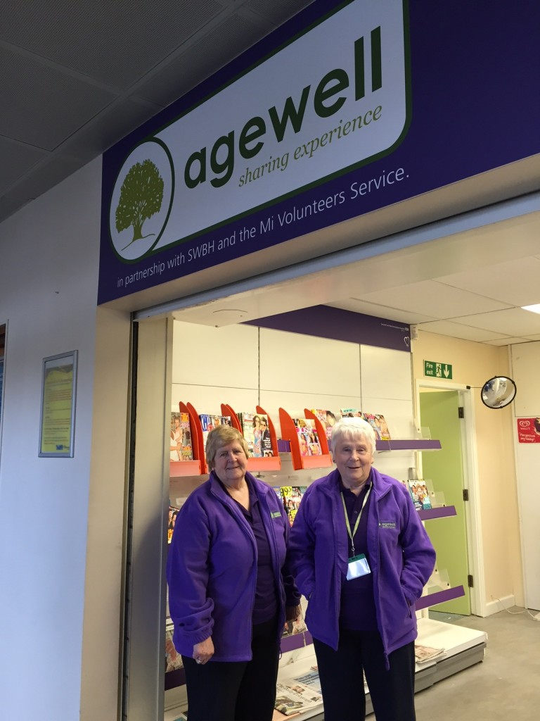Edna Barker, Chair of Agewell with Ruth Bailey, Volunteer