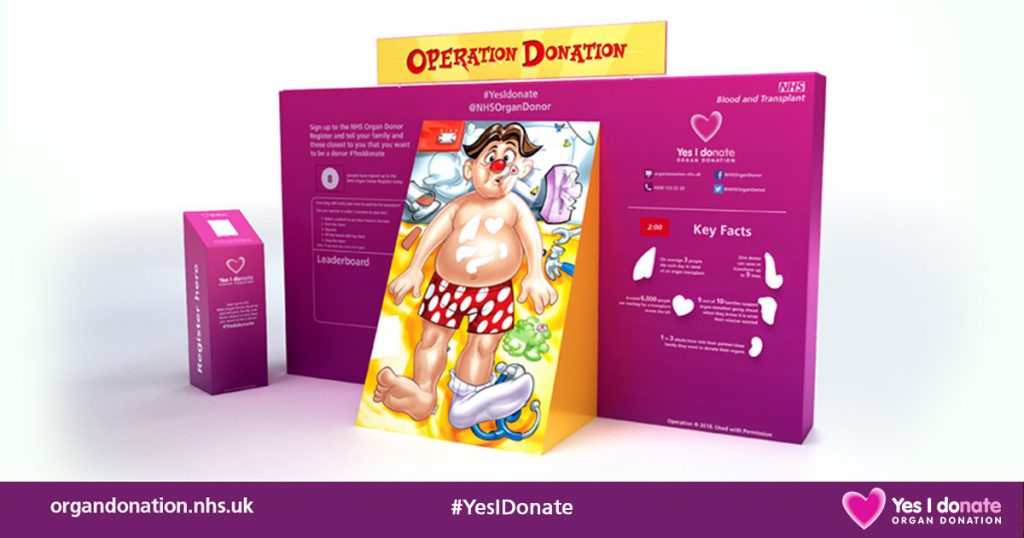 The life size game of Operation will be at City Hospital on Friday as part of Organ Donation week.