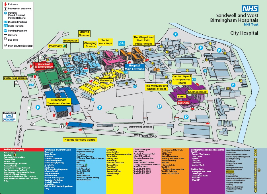 City Hospital Map Birmingham City Hospital   Sandwell and West Birmingham  City Hospital Map