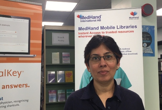 Preeti Puligari from the Library services for World Mental Health Dayjoins forces with other libraries for