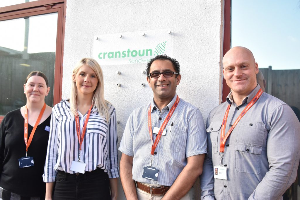 Representatives from Cranstoun Sandwell and the Trust