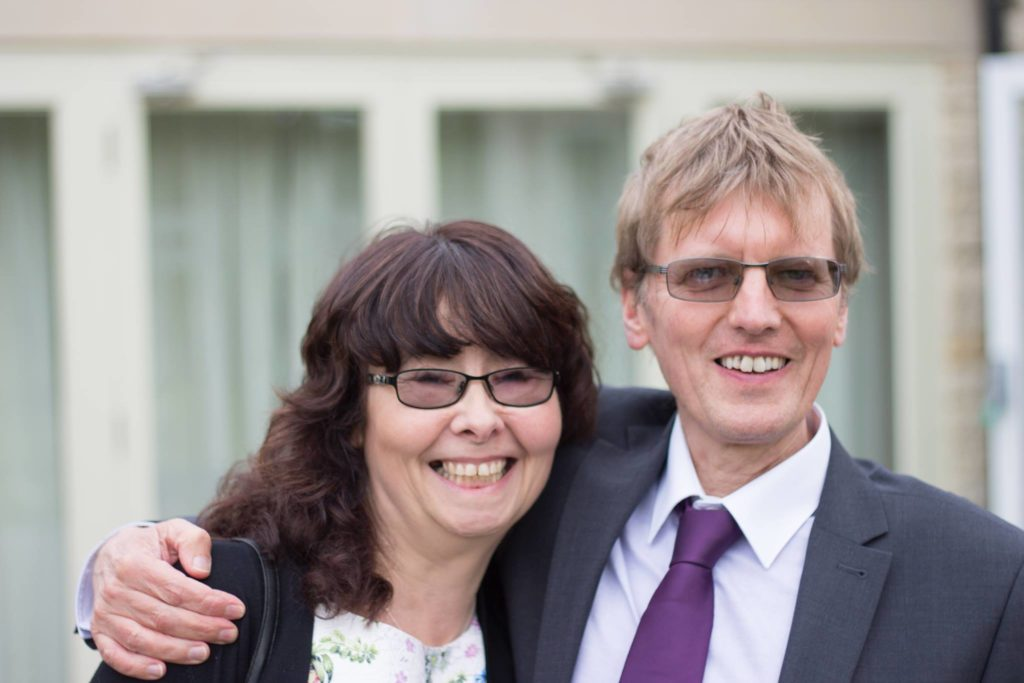 Tina and Dave who are part of a support group for friends and families affected by harmful addictions.