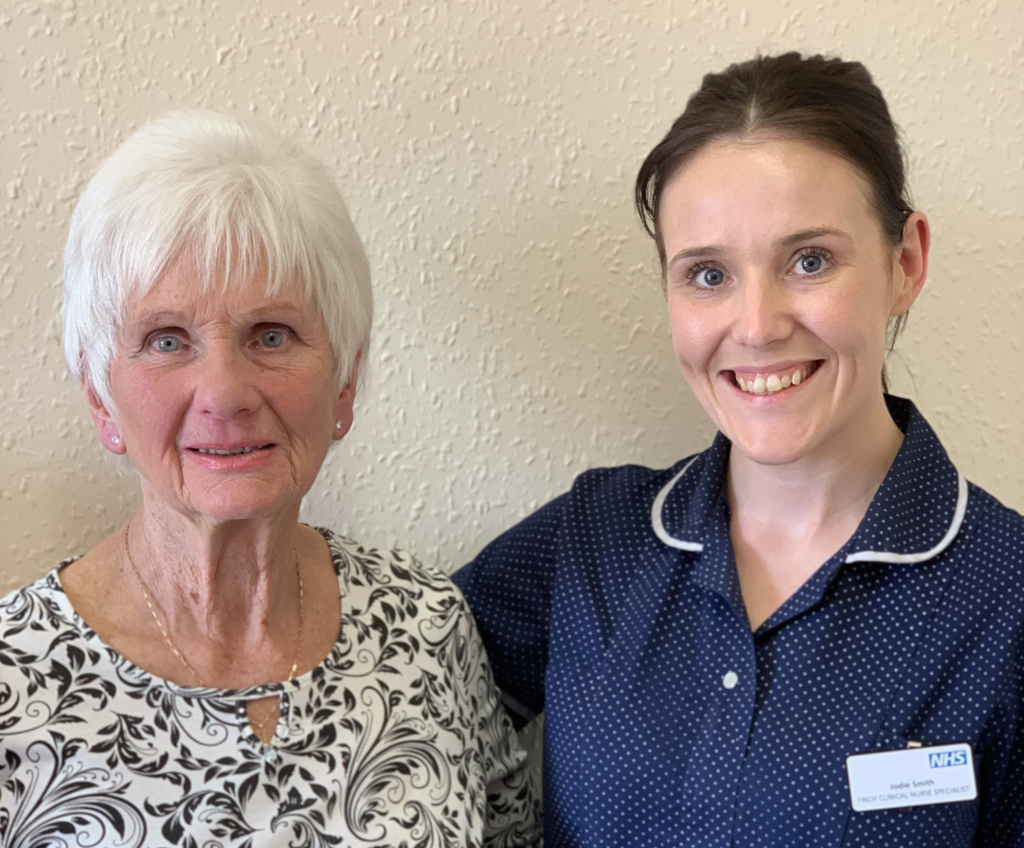 A nurse and patient who went on the FINCH team coach trip