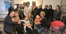 Breastfeeding volunteers gathered together for training for their roles.