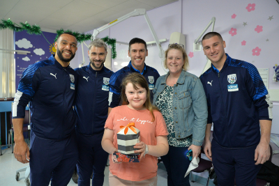 Footballers from West Bromwich Albion visited Sandwell Hospital
