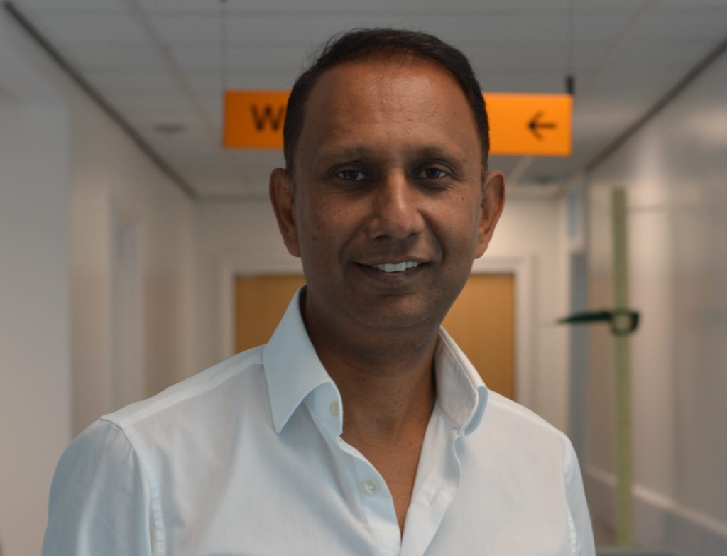 Surgeon Manoj Sikand is one of the Trust's NHS Heroes.