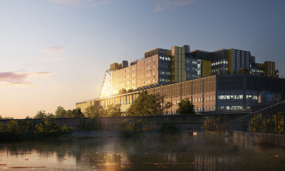 An artists' impression of the Midland Metropolitan University Hospital when it is finished.