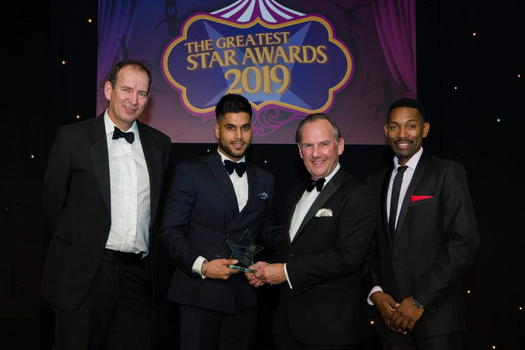 The Star Awards takes place annually and is our recognition event for staff working at the Trust. In the picture is the Quality of Care winner Ajay Hira (second left) with (left to right) David Carruthers, Medical Director, Richard Samuda, Chairman and Des Coleman who presented the event.