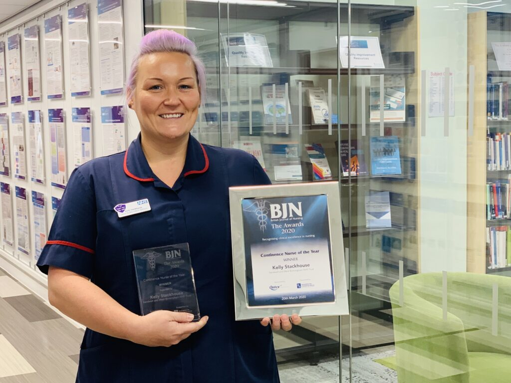 Kelly Stackhouse has won the Incontinence Nurse of the Year Award.