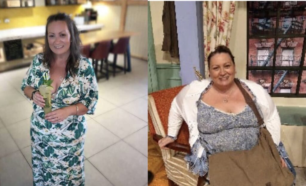 Heidi Ferrier-Hixon, before and after her amazing weightloss.