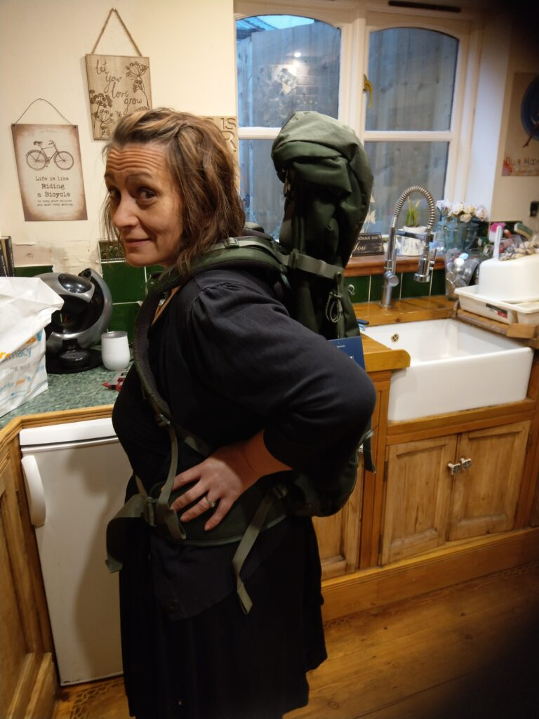 Heidi Ferrier-Hixon is seen here prepping for her walk up Snowdon. She begin her weightloss journey in 2018 and hasnt looked back.