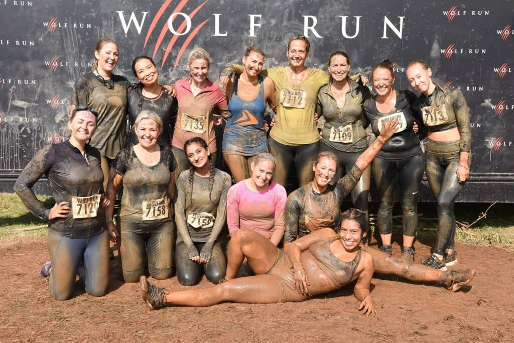 Some of the Critical Care team who took part in the Wolf Run